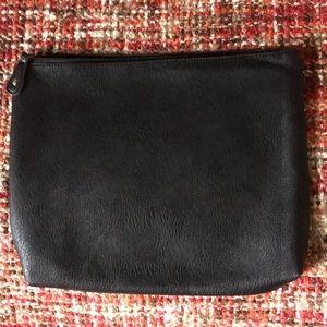 Free People Black Vegan Leather Clutch